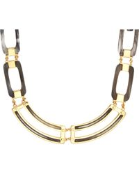 Maiyet - Grey Horn & Gold Short Necklace - Lyst
