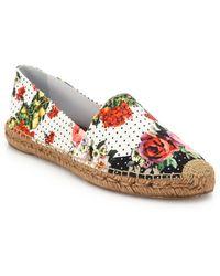 Dolce & Gabbana Brocade-Print Espadrille Flats - Lyst