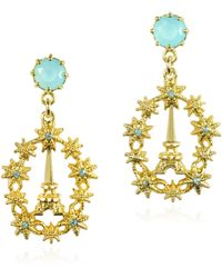 Les Nereides - Paris Mon Amour Suns And Eiffel Tower Post Earrings - Lyst