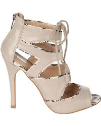 Jane Norman - Lace Up Heels - Lyst