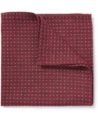Turnbull & Asser Wool Cashmere and Silkblend Polkadot Pocket Square - Lyst