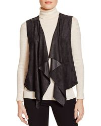 T Tahari - Anora Draped Faux Suede Vest - Lyst