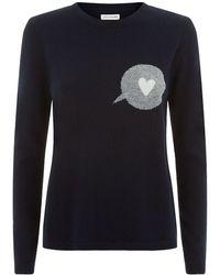 Chinti & Parker Speech Bubble Sweater blue - Lyst