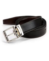 Tumi - Reversible Stitched Leather Belt - Lyst