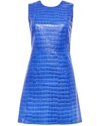 Alice + Olivia Kasia Leather Dress - Lyst
