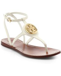 Tory Burch Leticia Leather Thong Sandals - Lyst