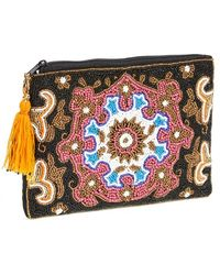 Berry - Beaded Mandala Clutch - Lyst
