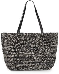 Saks Fifth Avenue Paper Straw Tote - Lyst