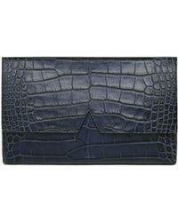 Vince Signature Collection Stamped Croc Medium Clutch - Lyst