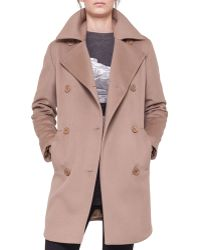 Akris Punto Double-breasted Martingale Coat - Lyst