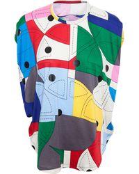 Junya Watanabe Cotton Patchwork Top multicolor - Lyst