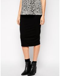 Asos Maternity Midi Pencil Skirt In Jersey - Lyst