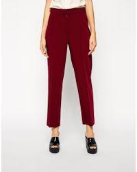 Asos Tailored Peg Pants - Lyst
