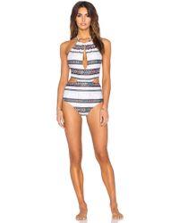 Mara Hoffman   Slit Front Swimsuit   Lyst