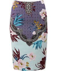 Etro Floral Pencil Skirt - Lyst