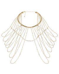 Topshop Chain Drape Collar - Lyst
