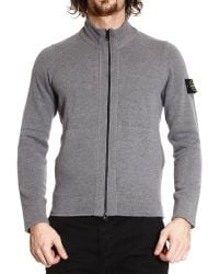 Stone Island Sweater Cachemire Wool Full Zip with Hood - Lyst