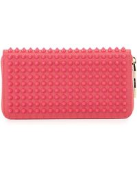 Christian Louboutin Panettone Spike Stud Continental Wallet pink - Lyst