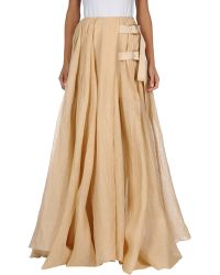 Acne Studios Long Skirt beige - Lyst
