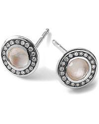 Ippolita 'Lollipop' Diamond & Doublet Stud Earrings - Lyst