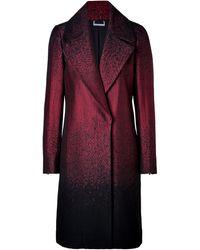 Diane Von Furstenberg Nala Coat in Velvet Siennablack - Lyst