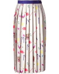 Mary Katrantzou Vaya Pleated Skirt - Lyst