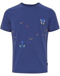 Fendi Monster Eyes Print T-Shirt - Lyst