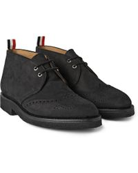 Thom Browne Nubuck Wingtip Chukka Boots - Lyst