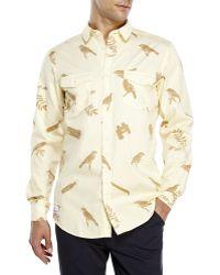 Wesc Gambrill Woven Sport Shirt yellow - Lyst