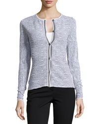 Lafayette 148 New York Long-sleeve Knit Jacquard Sweater - Lyst