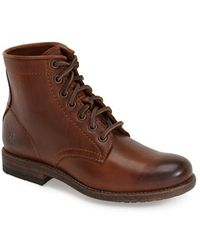 Frye | Tyler Leather Lace-Up Boots | Lyst