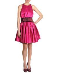 Christopher Kane Satin Sleeveless Cinch-waist Dress - Lyst