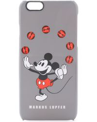 Markus Lupfer - Juggling Mickey Mouse Iphone 6 Case - Grey Multi - Lyst