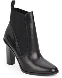 Via Spiga Maila Leather Ankle Boots - Lyst