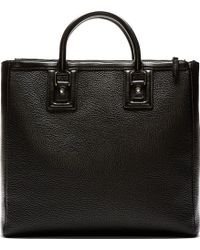 Dolce & Gabbana Black Pebbled Leather Tote - Lyst