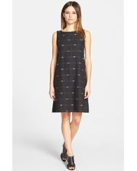 Eileen Fisher Embroidered Shift Dress - Lyst