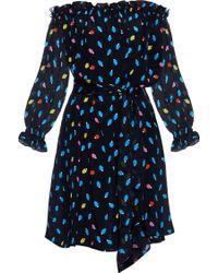 Isolda | Fru Fru Off-the-shoulder Caju Fruit-print Silk Top | Lyst