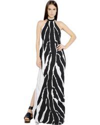 Roberto Cavalli Animalier Printed Viscose Cady Dress - Lyst
