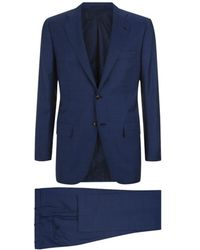 Kiton Windowpane Check Suit - Lyst