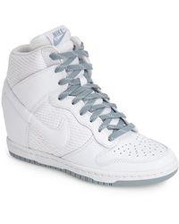 57ef84c31d4e ... low cost nike dunk sky hi essential wedge sneaker lyst f9275 9ae3e