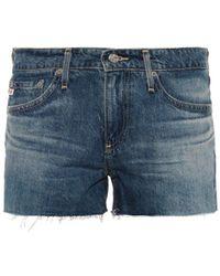 Ag Adriano Goldschmied The Bonnie Denim Shorts - Lyst