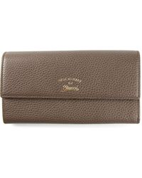 Gucci Brown Continental Wallet - Lyst