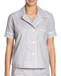 Araks Shelby Sailor Dot Cotton Short-Sleeve Pajama Top blue - Lyst