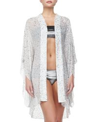 Alice + Olivia Oceana Beaded Sequined Open Coverup - Lyst
