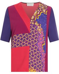 Peter Pilotto Torrent Printed Top - Lyst