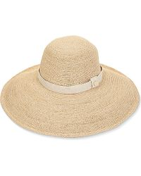 Heidi Klein - Wide Brim Natural Raffia Hat - For Women - Lyst