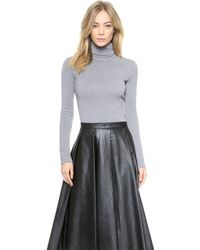 Rodarte Wool Jersey Turtleneck  Grey - Lyst