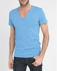 Diesel Blue Glow In The Dark Jesse Printed T-Shirt blue - Lyst