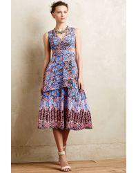 Nanette Lepore Silk Cut-Out Midi Dress - Lyst