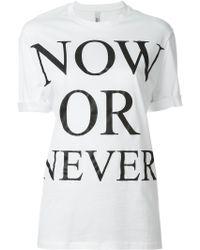 Neil Barrett | Now Or Never T-shirt | Lyst